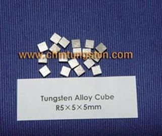 High Density Tungsten Nickel Iron Alloy Cube Yield Strength More Than 650MPa